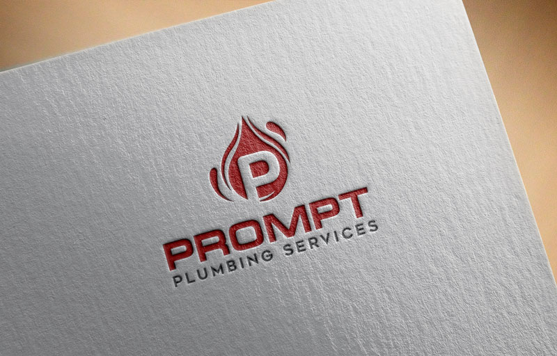 Logo Design by ARABICA Ibrahim - Entry No. 69 in the Logo Design Contest Artistic Logo Design for Prompt Plumbing Services.