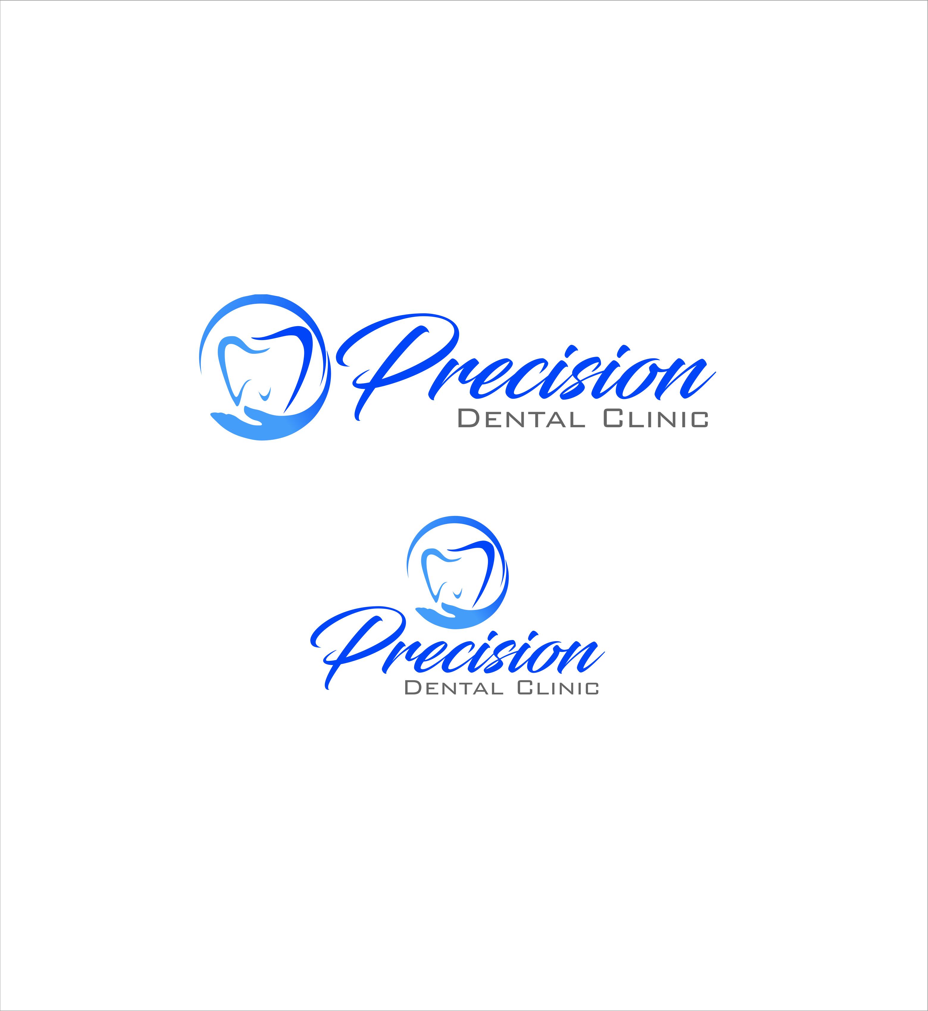 Logo Design by snow - Entry No. 29 in the Logo Design Contest Captivating Logo Design for Precision Dental Clinic.