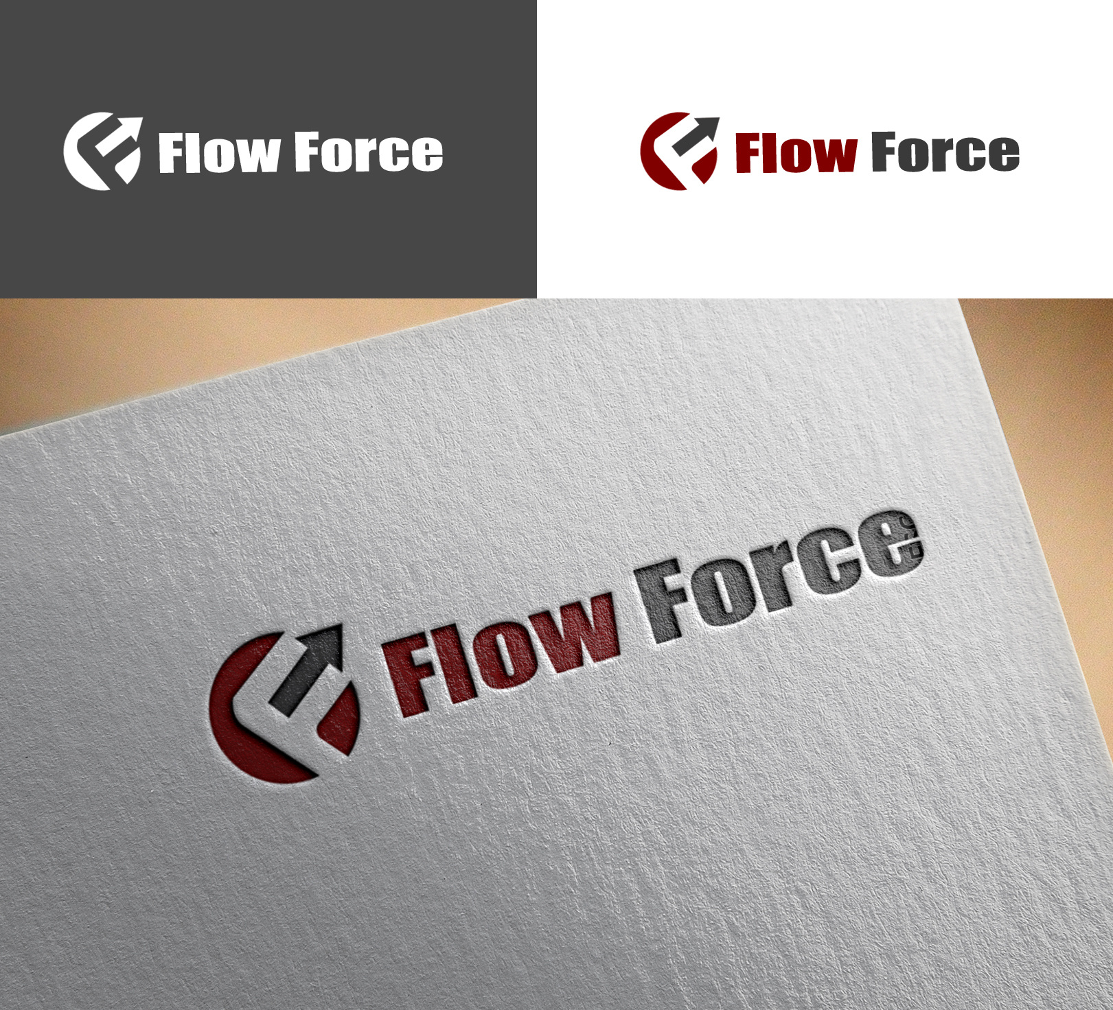 Logo Design by Sohaib Ali Khan - Entry No. 79 in the Logo Design Contest Fun Logo Design for Flow Force Injectors.