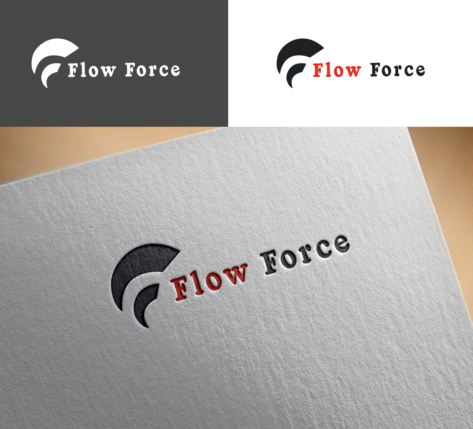 Logo Design by Sohaib Ali Khan - Entry No. 81 in the Logo Design Contest Fun Logo Design for Flow Force Injectors.