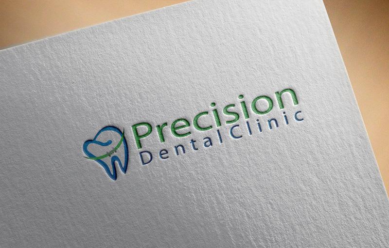 Logo Design by Ajaz ahmed Sohail - Entry No. 31 in the Logo Design Contest Captivating Logo Design for Precision Dental Clinic.