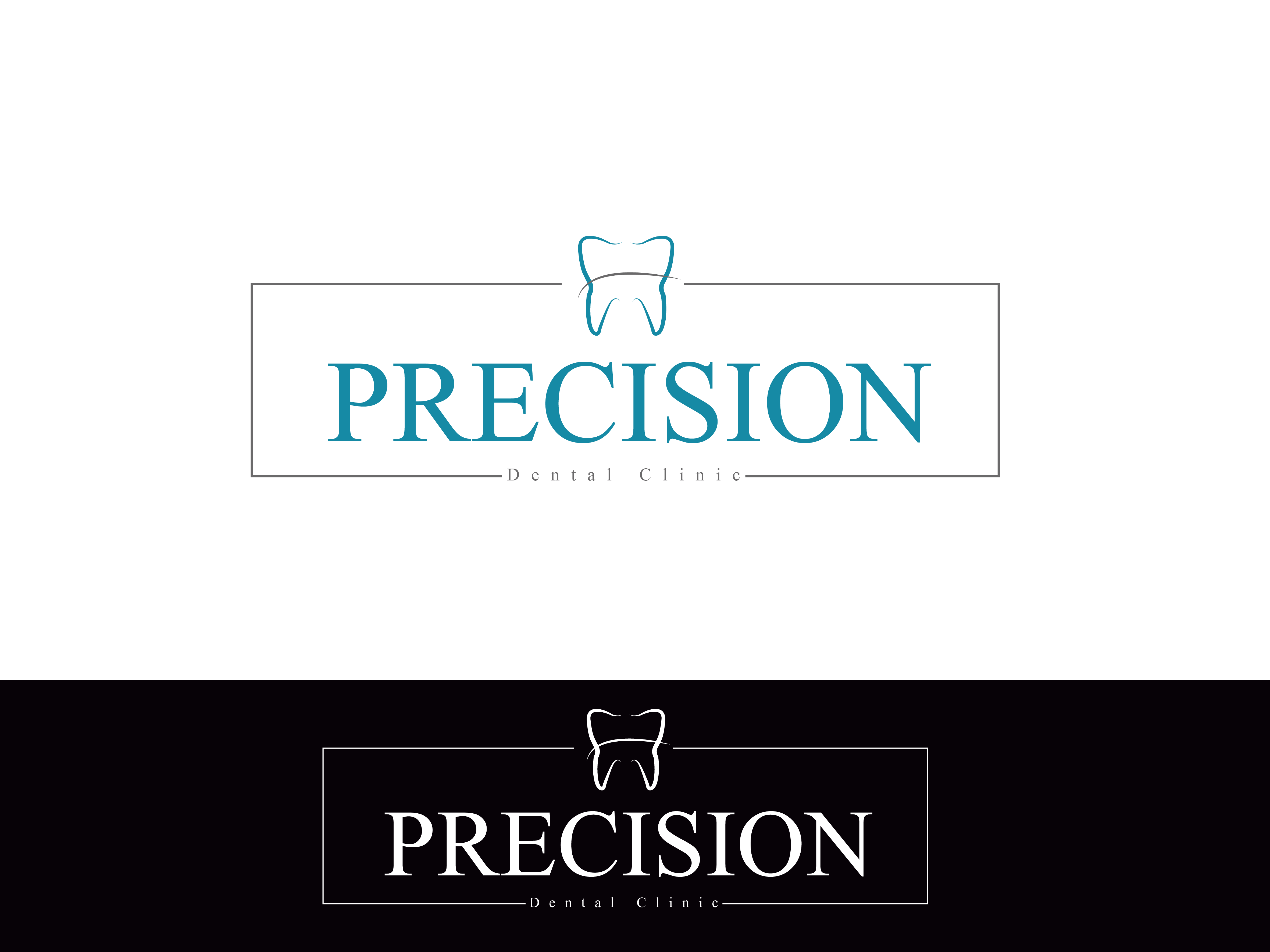 Logo Design by Private User - Entry No. 33 in the Logo Design Contest Captivating Logo Design for Precision Dental Clinic.