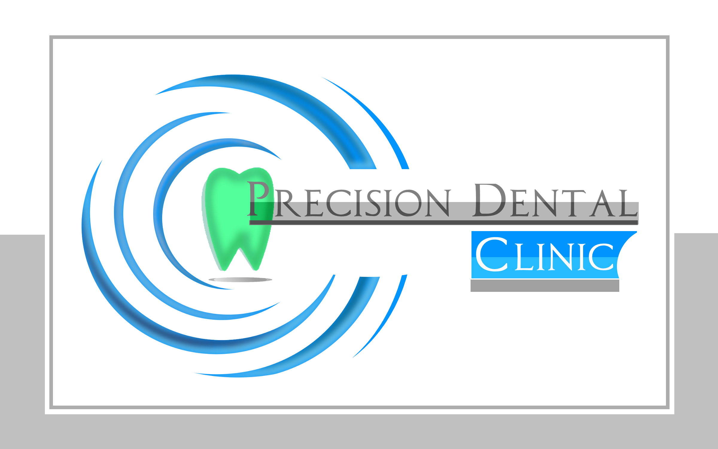 Logo Design by Roberto Bassi - Entry No. 34 in the Logo Design Contest Captivating Logo Design for Precision Dental Clinic.