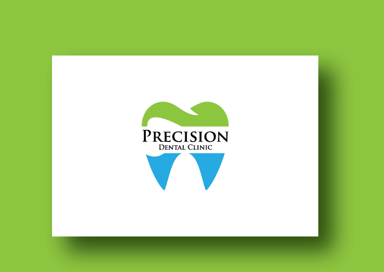 Logo Design by Ahaan - Entry No. 35 in the Logo Design Contest Captivating Logo Design for Precision Dental Clinic.