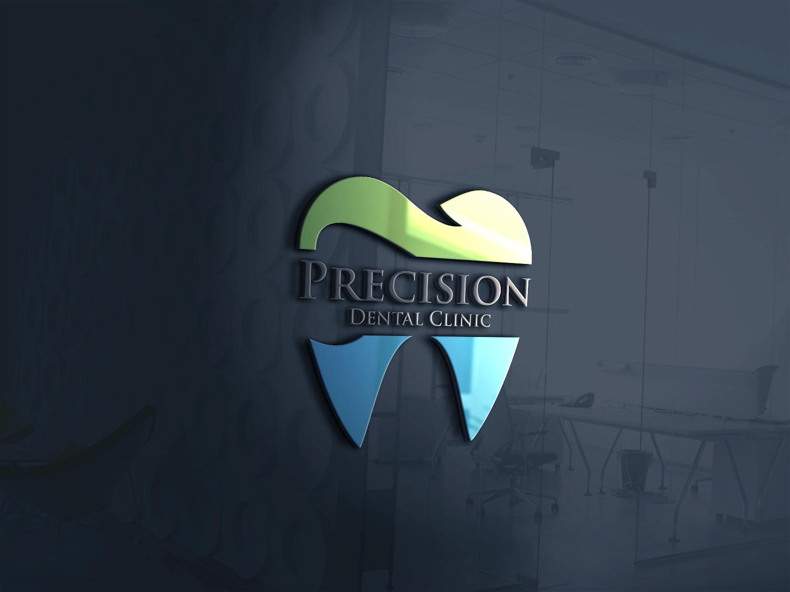 Logo Design by Ahaan - Entry No. 36 in the Logo Design Contest Captivating Logo Design for Precision Dental Clinic.