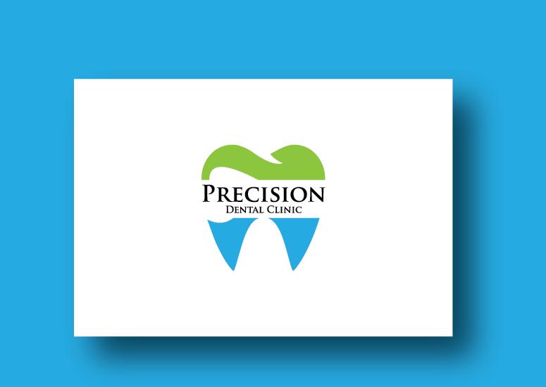 Logo Design by Ahaan - Entry No. 37 in the Logo Design Contest Captivating Logo Design for Precision Dental Clinic.