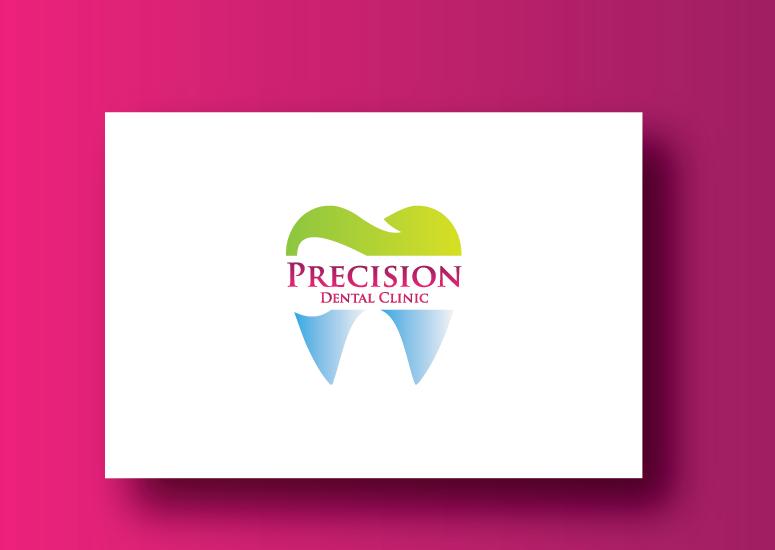 Logo Design by Ahaan - Entry No. 38 in the Logo Design Contest Captivating Logo Design for Precision Dental Clinic.