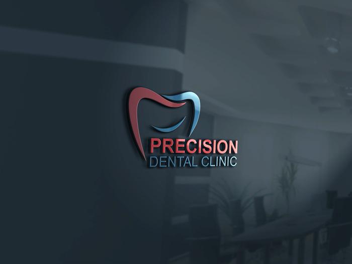 Logo Design by Mohammad azad Hossain - Entry No. 40 in the Logo Design Contest Captivating Logo Design for Precision Dental Clinic.