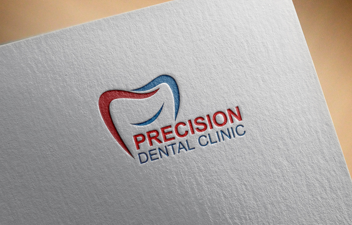 Logo Design by Mohammad azad Hossain - Entry No. 41 in the Logo Design Contest Captivating Logo Design for Precision Dental Clinic.