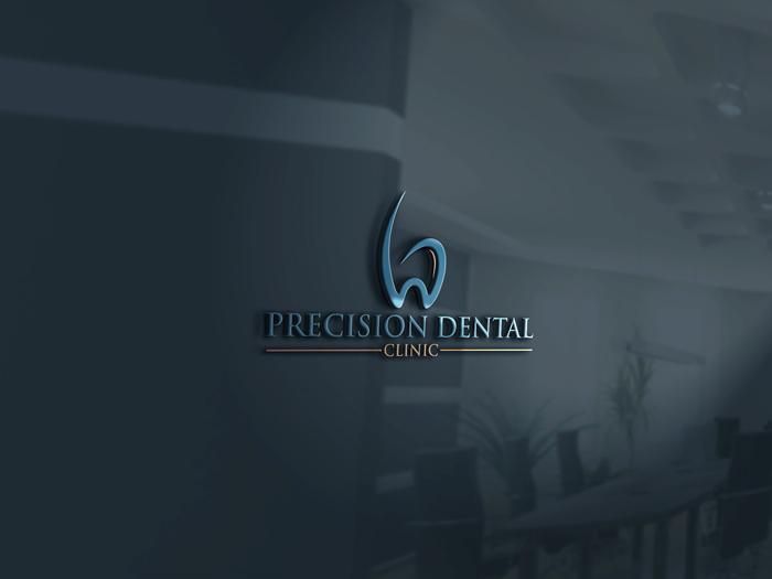 Logo Design by Mohammad azad Hossain - Entry No. 42 in the Logo Design Contest Captivating Logo Design for Precision Dental Clinic.