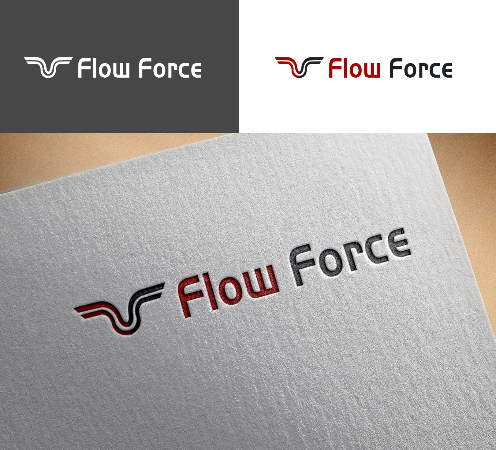 Logo Design by Sohaib Ali Khan - Entry No. 91 in the Logo Design Contest Fun Logo Design for Flow Force Injectors.