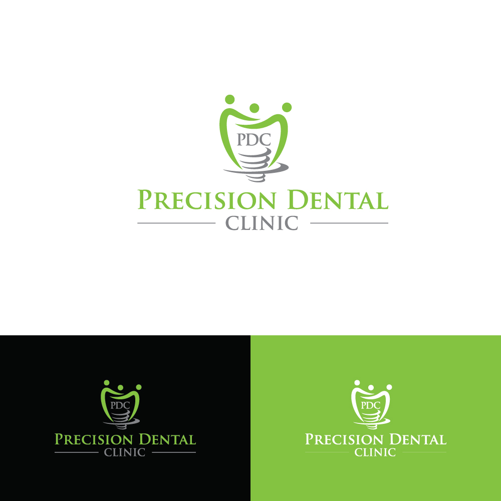 Logo Design by Tauhid Shaikh - Entry No. 44 in the Logo Design Contest Captivating Logo Design for Precision Dental Clinic.
