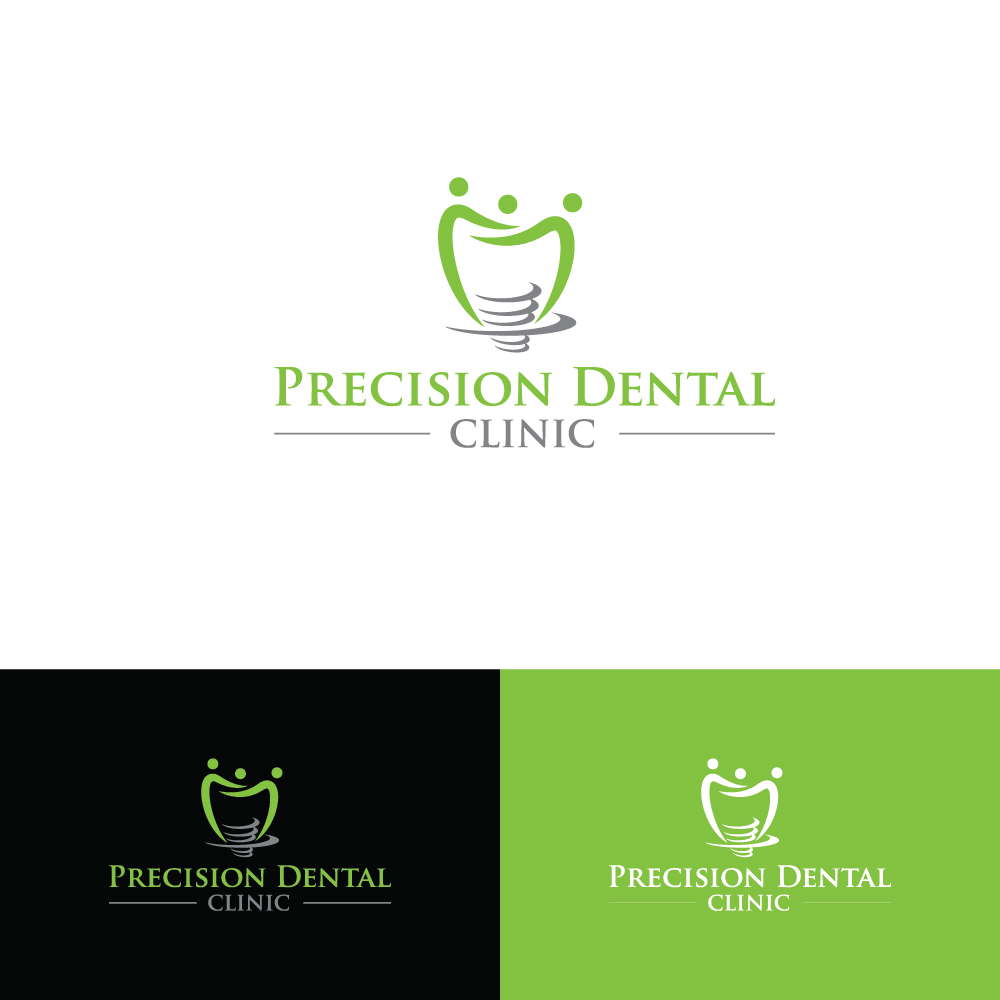 Logo Design by Tauhid Shaikh - Entry No. 46 in the Logo Design Contest Captivating Logo Design for Precision Dental Clinic.