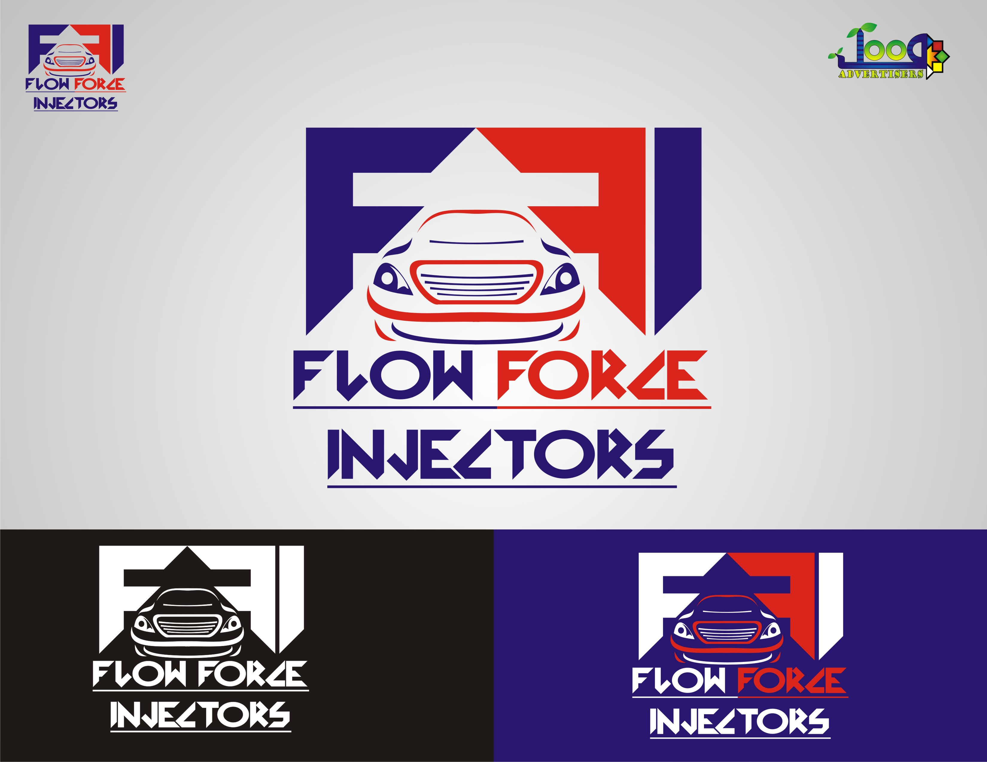 Logo Design by Jawad Shabbir - Entry No. 97 in the Logo Design Contest Fun Logo Design for Flow Force Injectors.