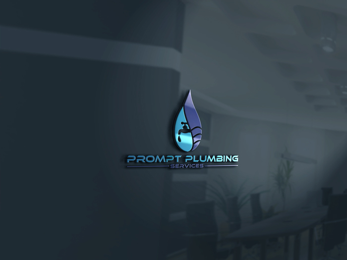 Logo Design by Mohammad azad Hossain - Entry No. 72 in the Logo Design Contest Artistic Logo Design for Prompt Plumbing Services.