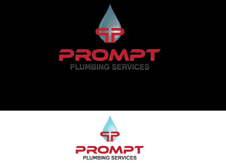 Logo Design by Ahaan - Entry No. 78 in the Logo Design Contest Artistic Logo Design for Prompt Plumbing Services.