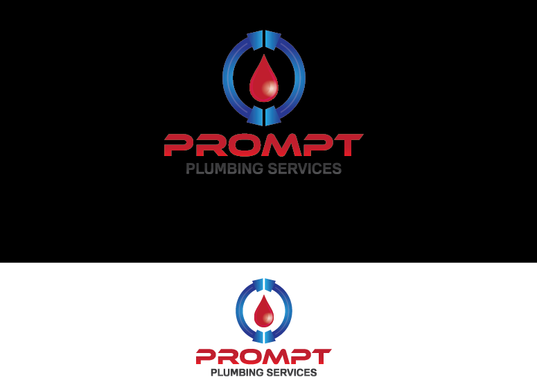Logo Design by Ahaan - Entry No. 79 in the Logo Design Contest Artistic Logo Design for Prompt Plumbing Services.