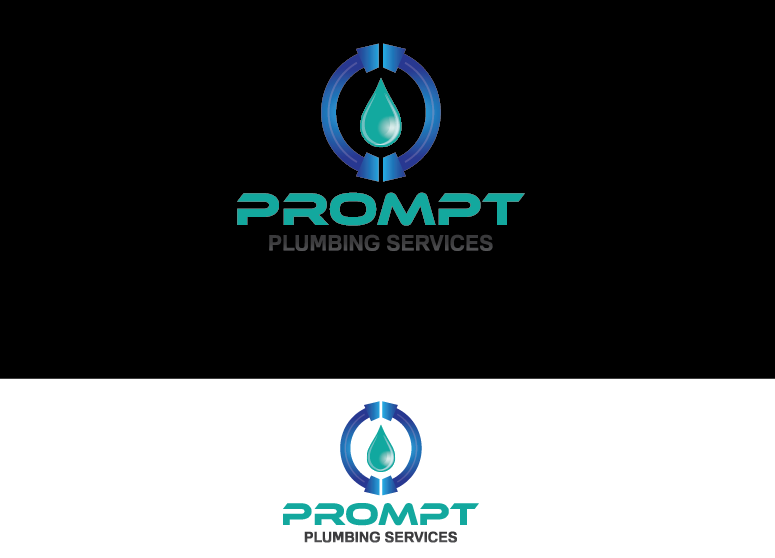 Logo Design by Ahaan - Entry No. 80 in the Logo Design Contest Artistic Logo Design for Prompt Plumbing Services.