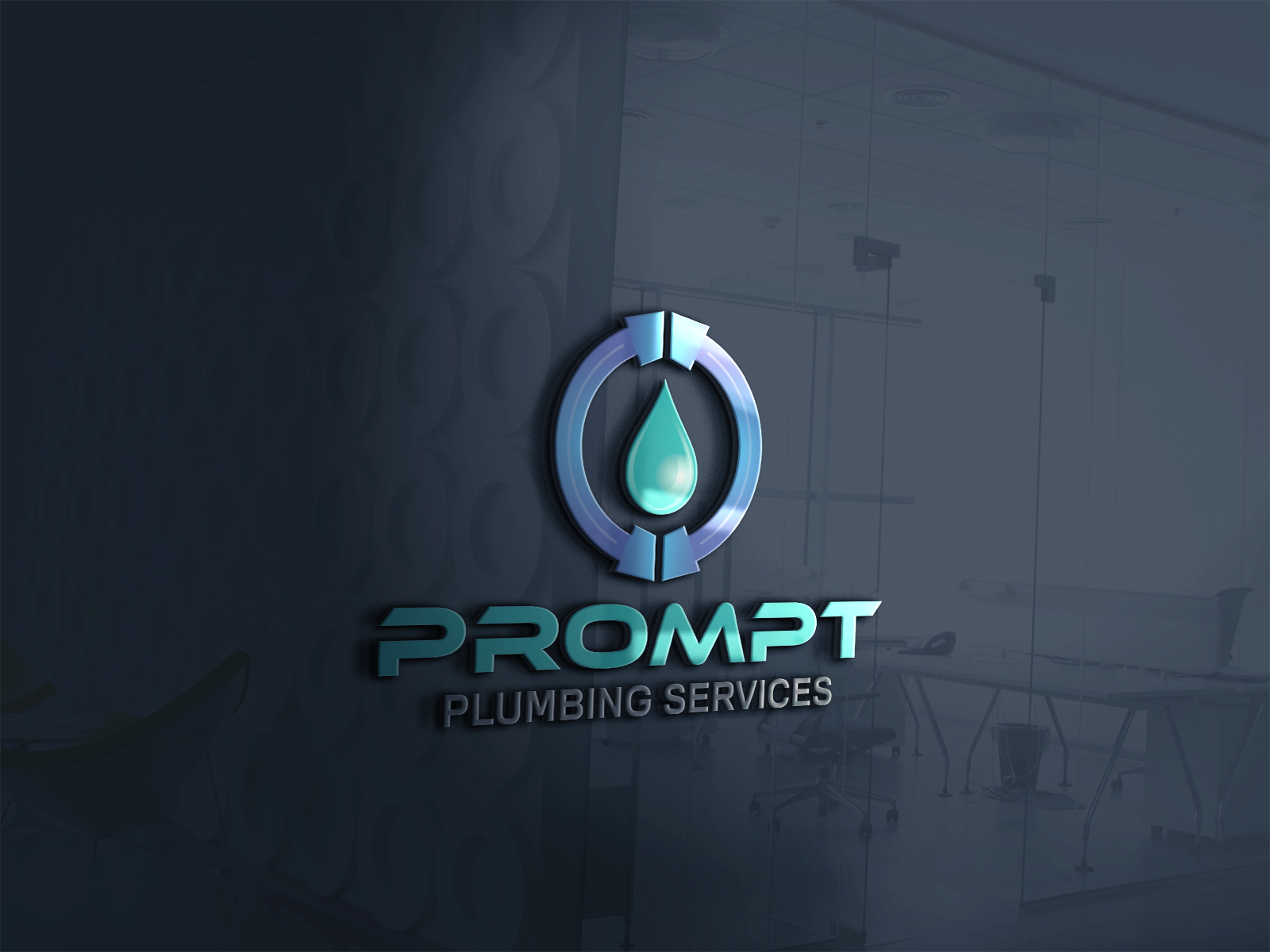 Logo Design by Ahaan - Entry No. 81 in the Logo Design Contest Artistic Logo Design for Prompt Plumbing Services.