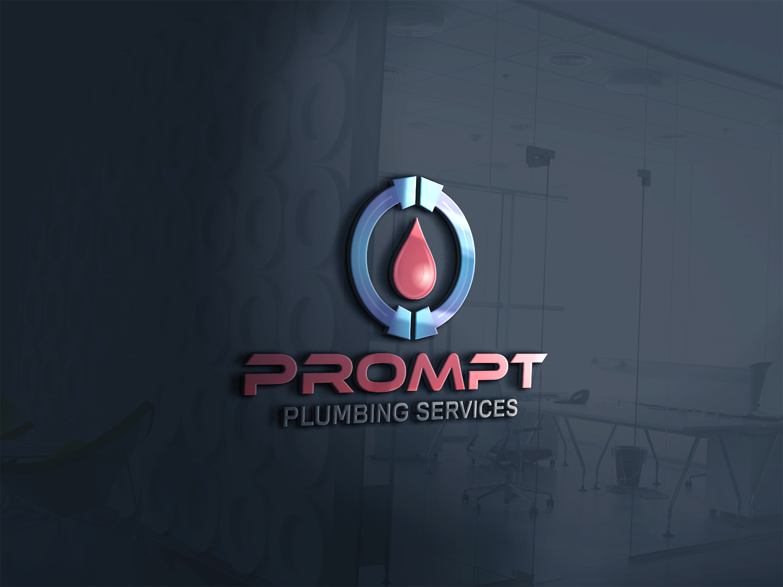 Logo Design by Ahaan - Entry No. 82 in the Logo Design Contest Artistic Logo Design for Prompt Plumbing Services.