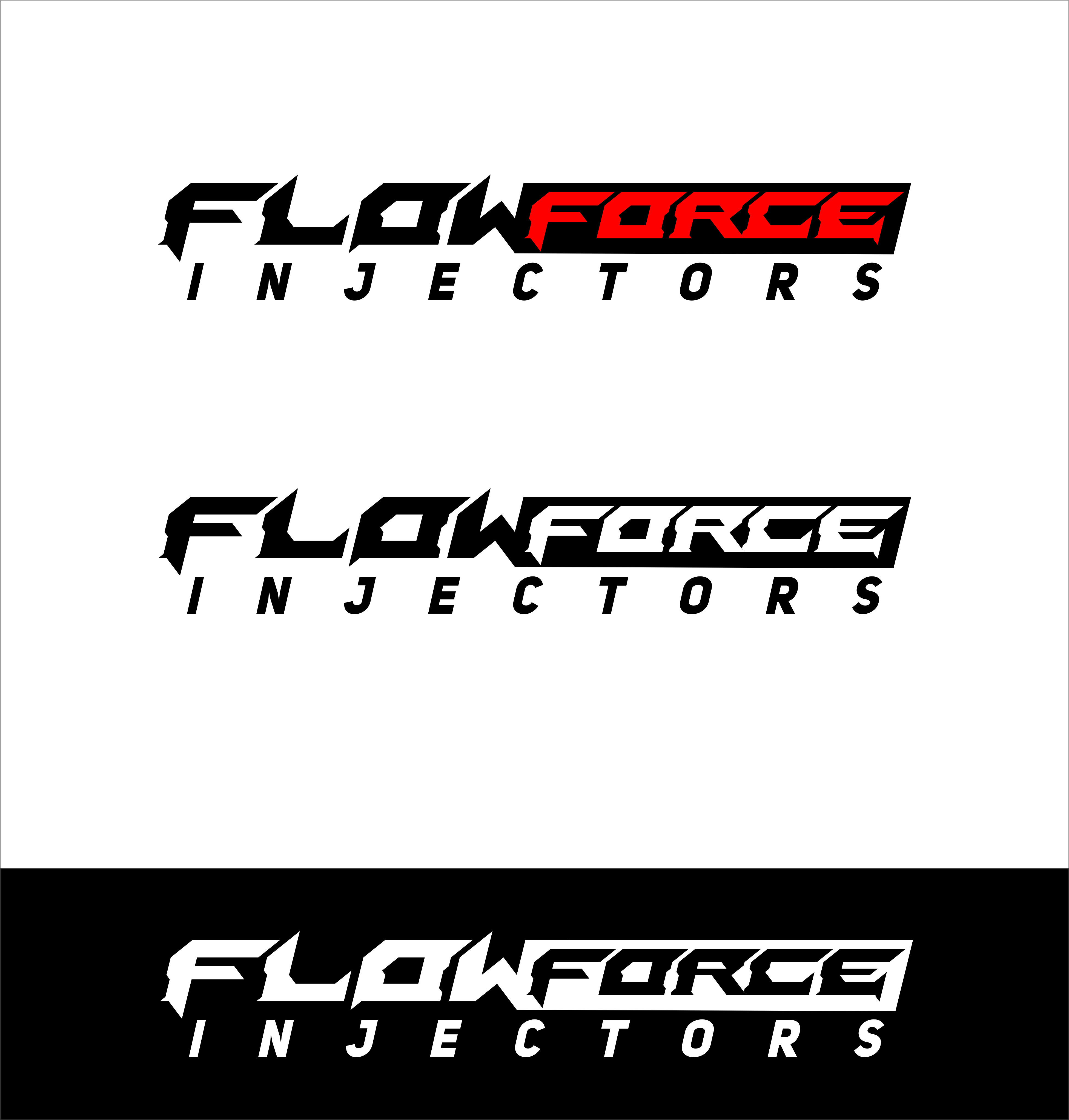 Logo Design by snow - Entry No. 110 in the Logo Design Contest Fun Logo Design for Flow Force Injectors.