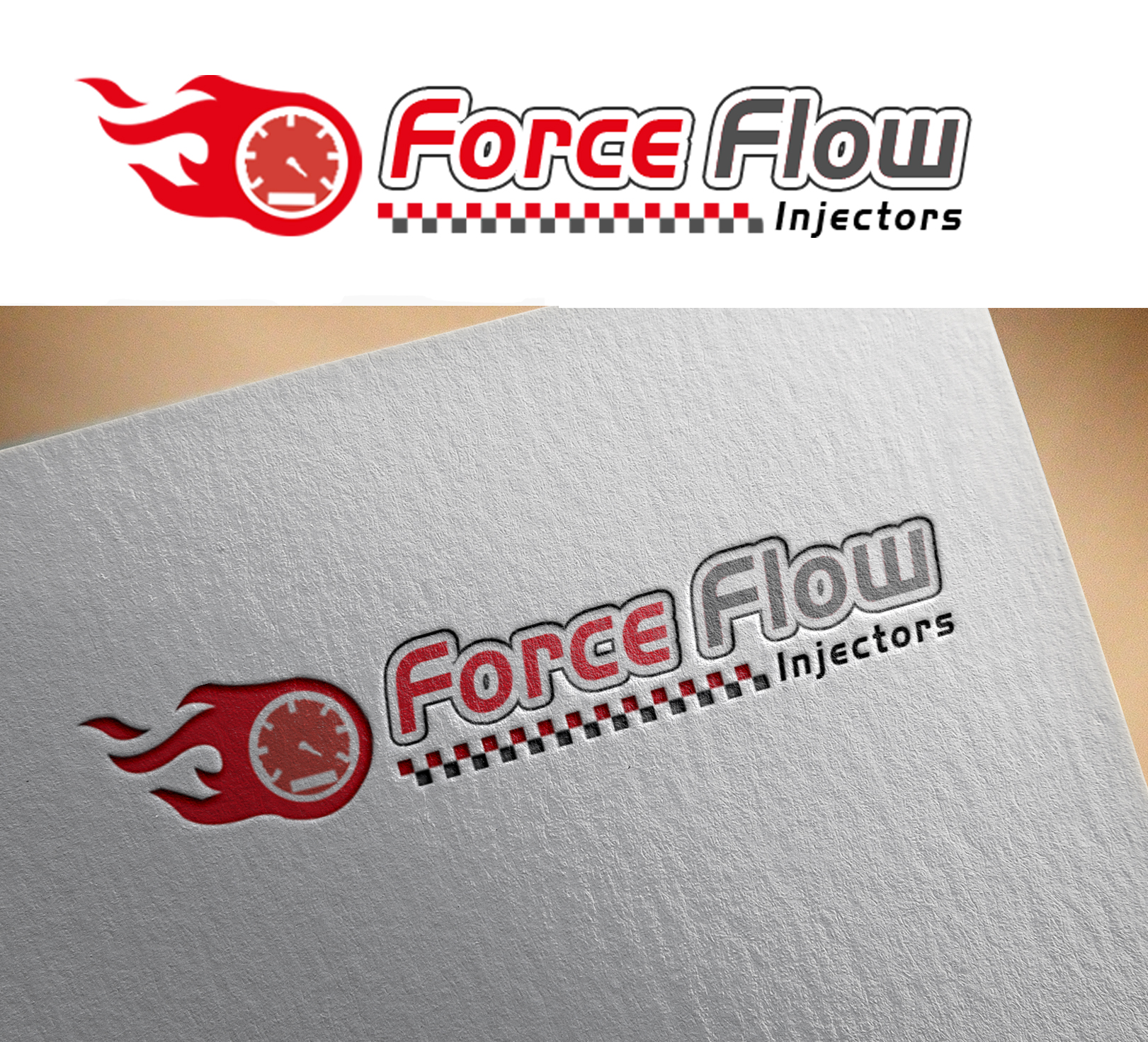 Logo Design by Sohaib Ali Khan - Entry No. 112 in the Logo Design Contest Fun Logo Design for Flow Force Injectors.