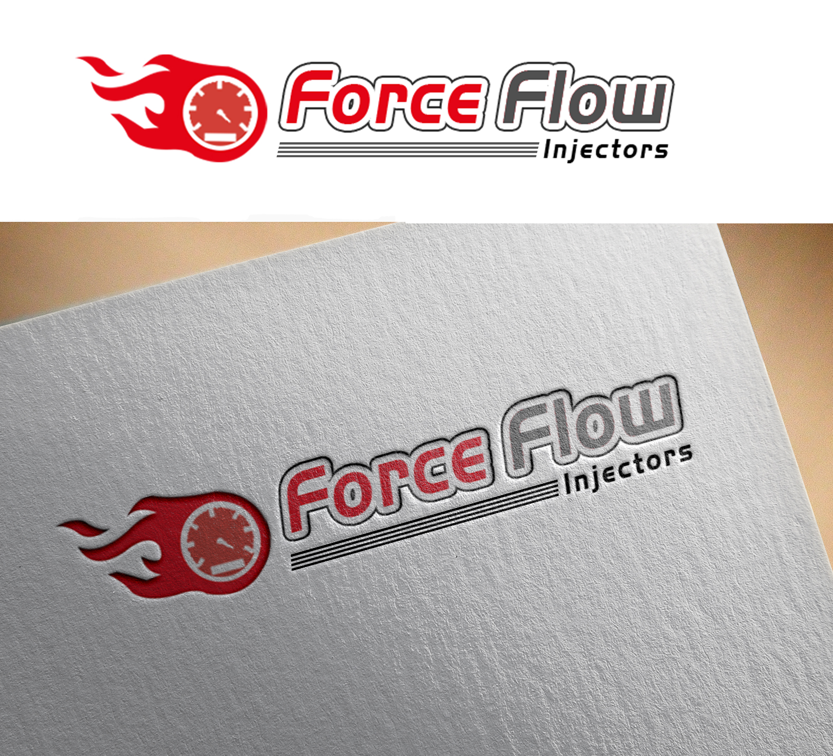 Logo Design by Sohaib Ali Khan - Entry No. 113 in the Logo Design Contest Fun Logo Design for Flow Force Injectors.