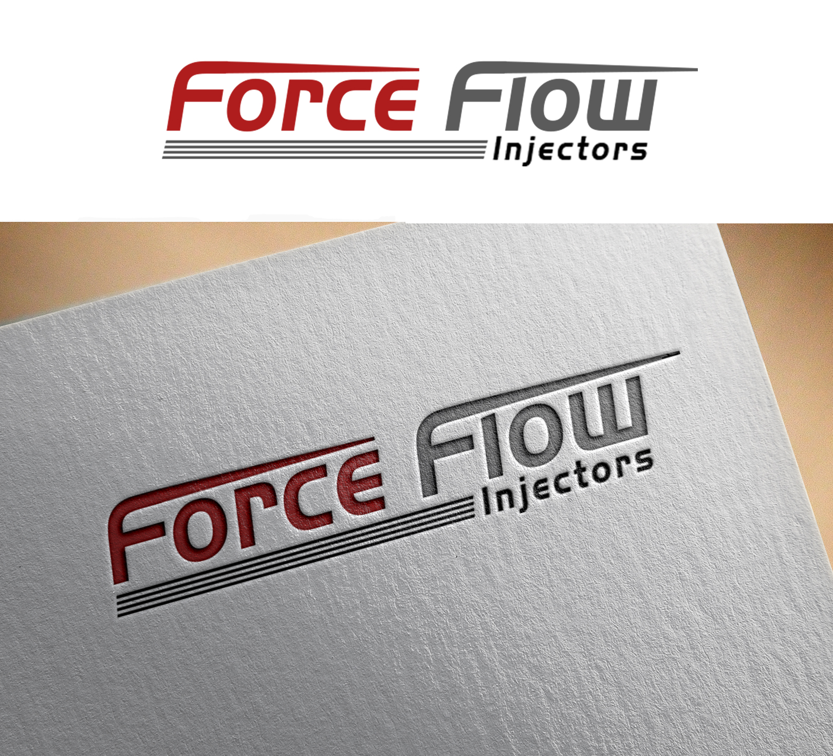 Logo Design by Sohaib Ali Khan - Entry No. 115 in the Logo Design Contest Fun Logo Design for Flow Force Injectors.
