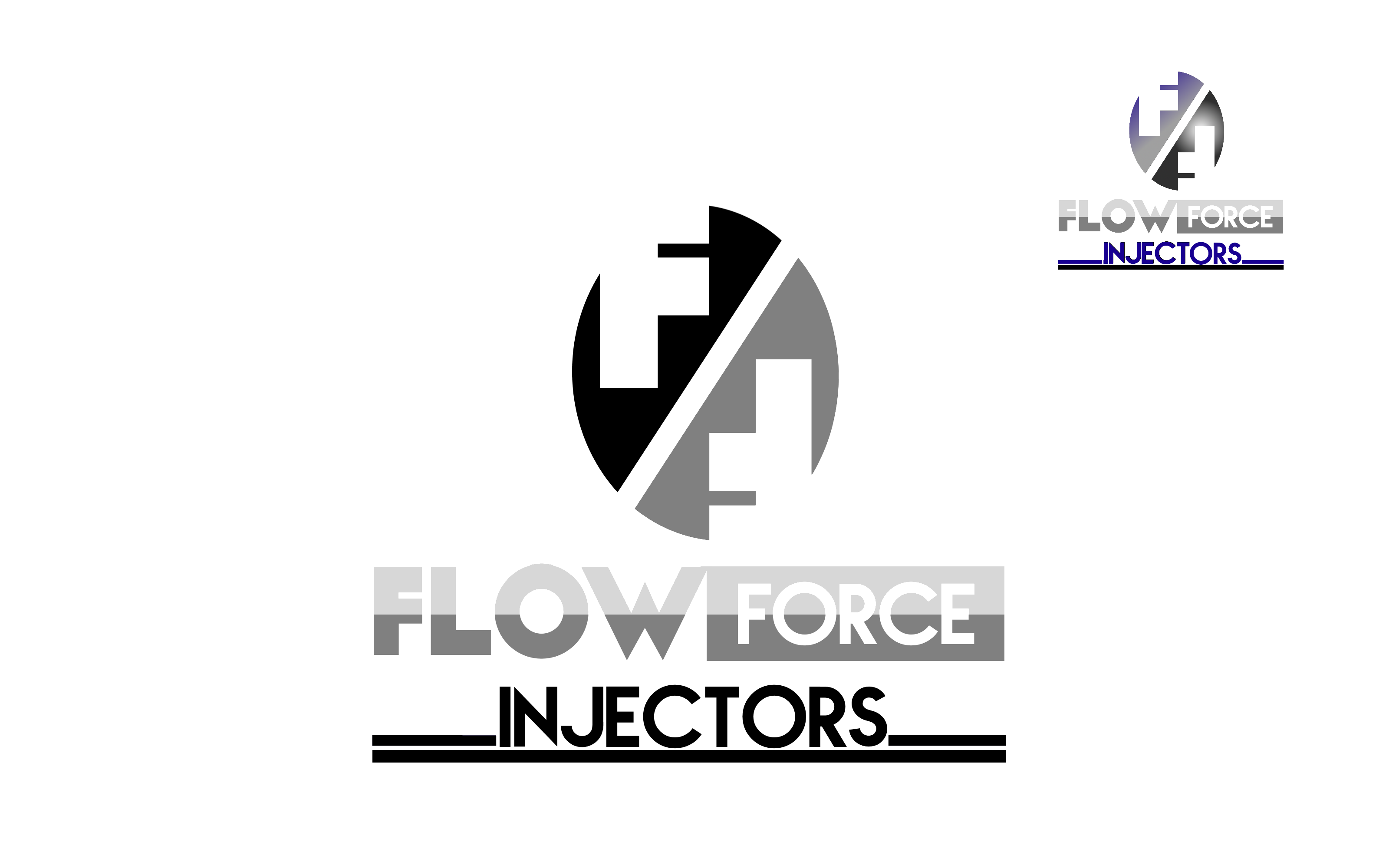Logo Design by Roberto Bassi - Entry No. 117 in the Logo Design Contest Fun Logo Design for Flow Force Injectors.