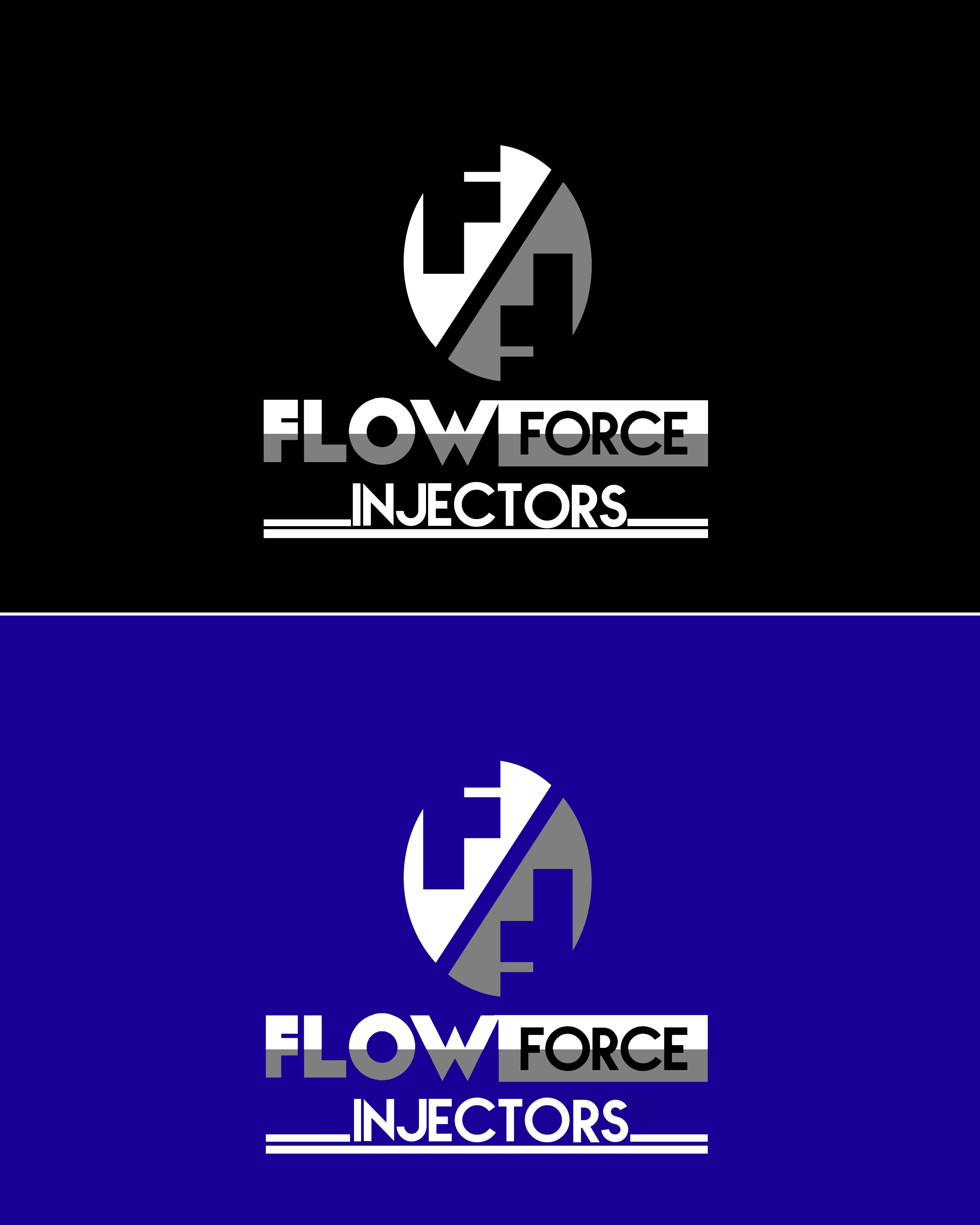 Logo Design by Roberto Bassi - Entry No. 118 in the Logo Design Contest Fun Logo Design for Flow Force Injectors.
