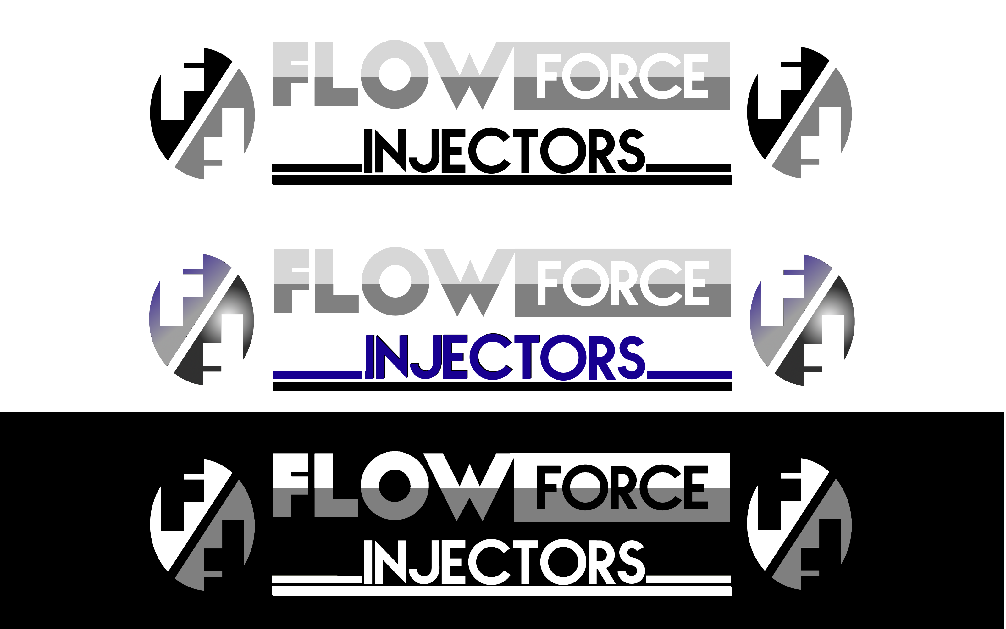 Logo Design by Roberto Bassi - Entry No. 119 in the Logo Design Contest Fun Logo Design for Flow Force Injectors.