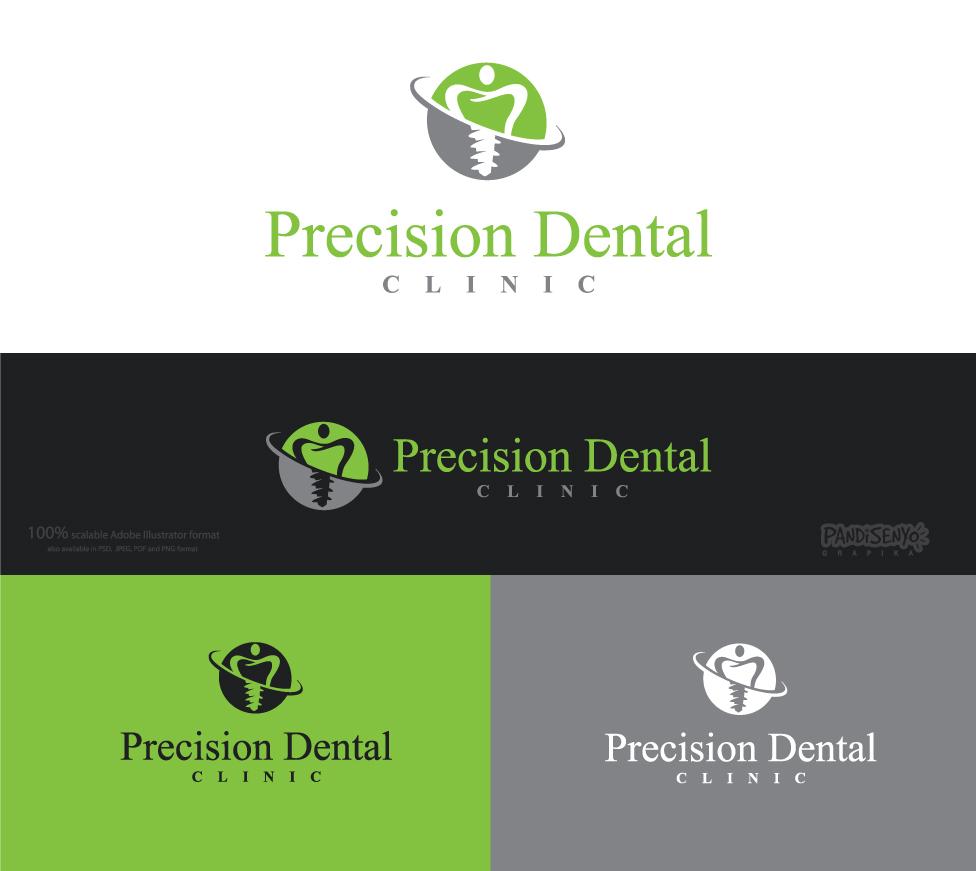 Logo Design by pandisenyo - Entry No. 54 in the Logo Design Contest Captivating Logo Design for Precision Dental Clinic.