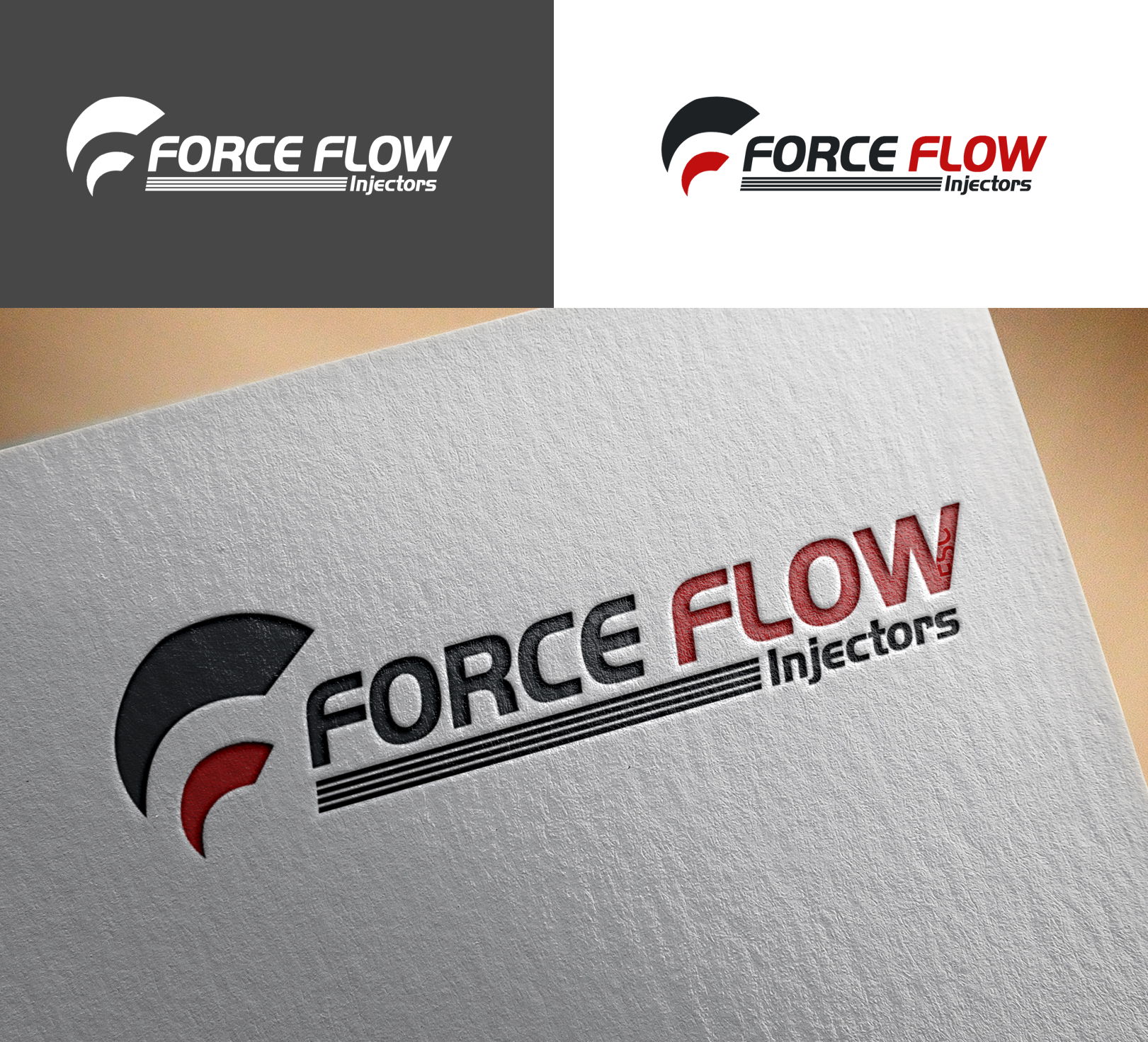 Logo Design by Sohaib Ali Khan - Entry No. 124 in the Logo Design Contest Fun Logo Design for Flow Force Injectors.