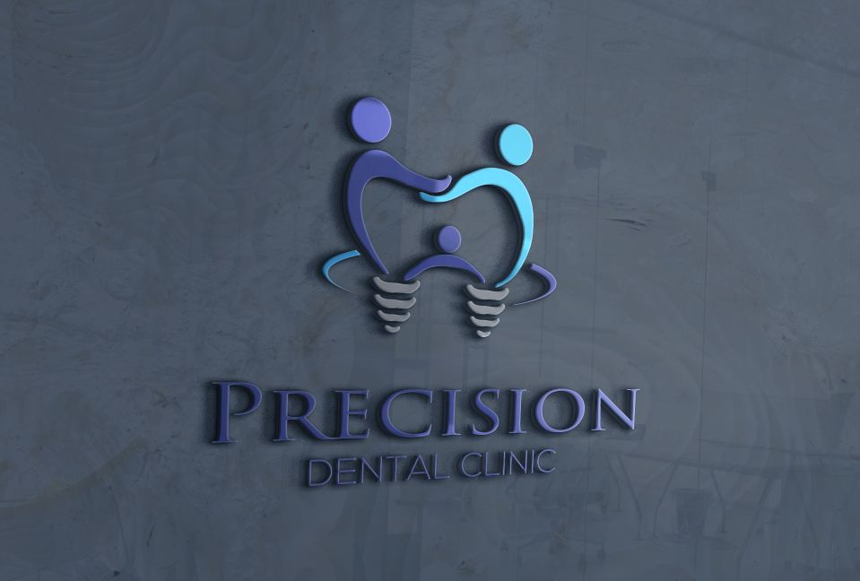 Logo Design by Wilfred Ponseca - Entry No. 59 in the Logo Design Contest Captivating Logo Design for Precision Dental Clinic.