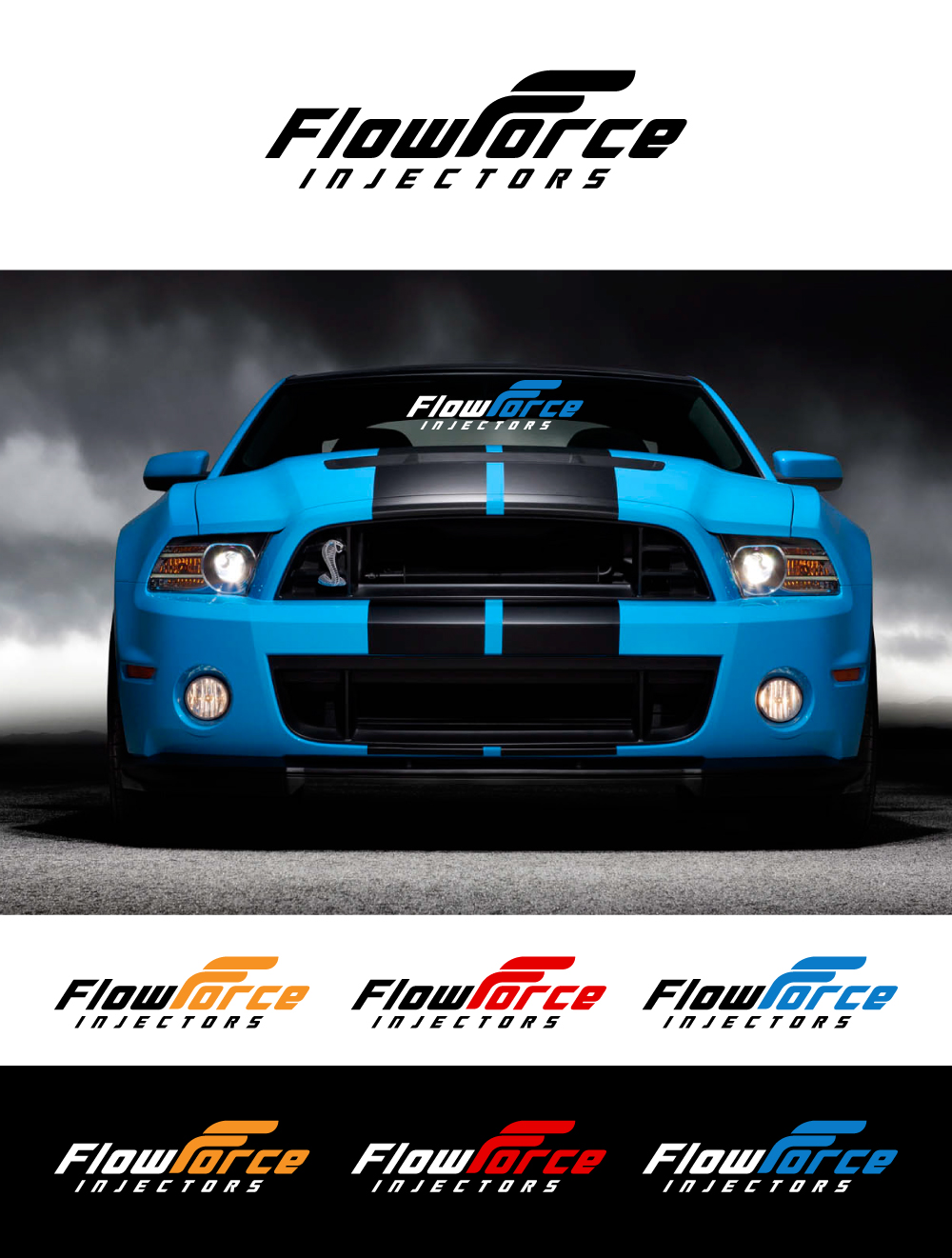 Logo Design by Tauhid Shaikh - Entry No. 129 in the Logo Design Contest Fun Logo Design for Flow Force Injectors.