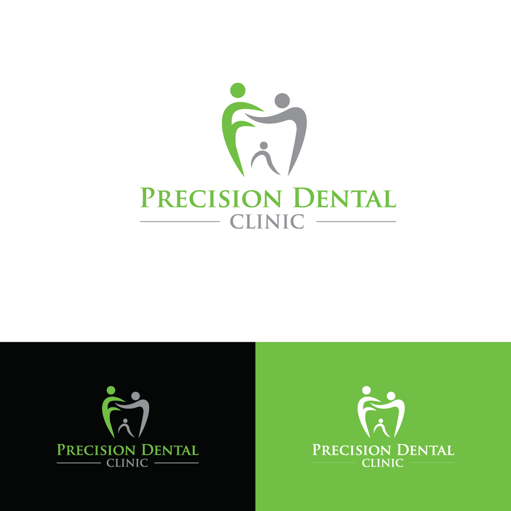 Logo Design by Tauhid Shaikh - Entry No. 62 in the Logo Design Contest Captivating Logo Design for Precision Dental Clinic.