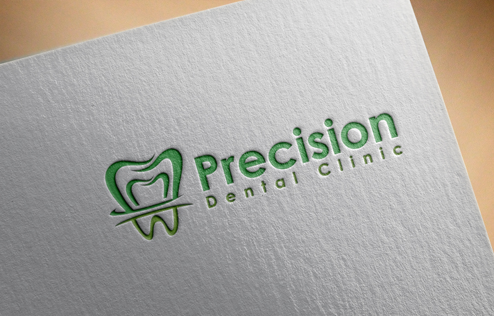 Logo Design by Private User - Entry No. 68 in the Logo Design Contest Captivating Logo Design for Precision Dental Clinic.