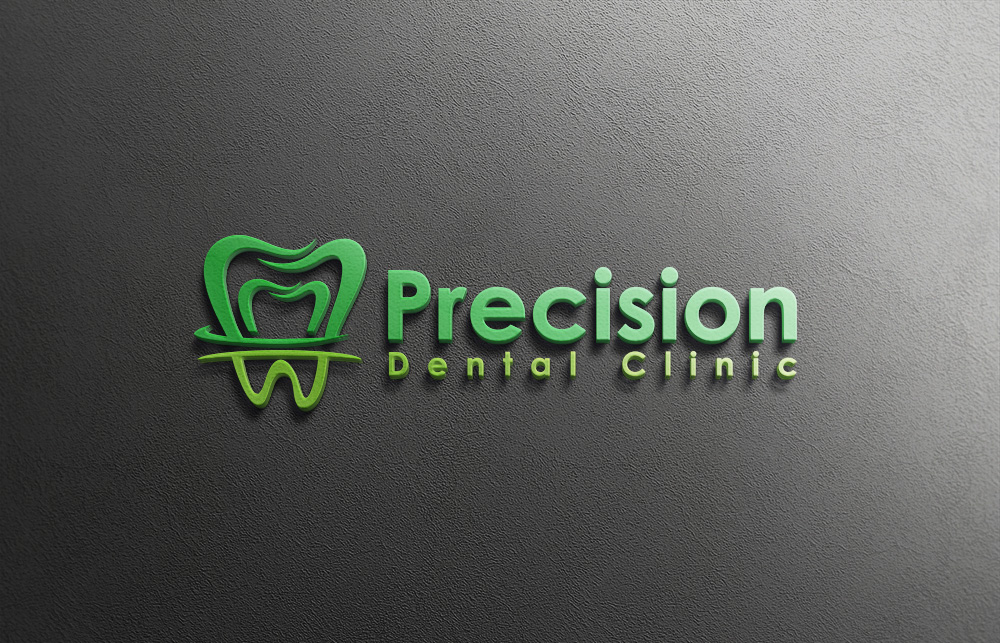 Logo Design by Private User - Entry No. 70 in the Logo Design Contest Captivating Logo Design for Precision Dental Clinic.