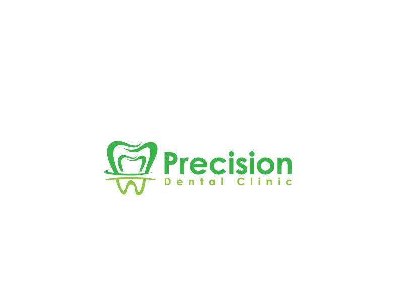 Logo Design by Private User - Entry No. 72 in the Logo Design Contest Captivating Logo Design for Precision Dental Clinic.