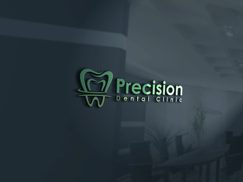 Logo Design by Private User - Entry No. 73 in the Logo Design Contest Captivating Logo Design for Precision Dental Clinic.