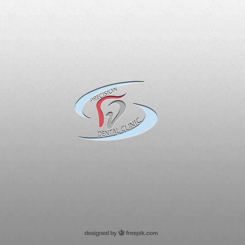 Logo Design by Palwasha Khan - Entry No. 74 in the Logo Design Contest Captivating Logo Design for Precision Dental Clinic.