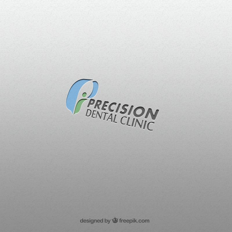 Logo Design by Palwasha Khan - Entry No. 75 in the Logo Design Contest Captivating Logo Design for Precision Dental Clinic.