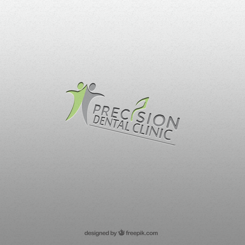 Logo Design by Palwasha Khan - Entry No. 76 in the Logo Design Contest Captivating Logo Design for Precision Dental Clinic.