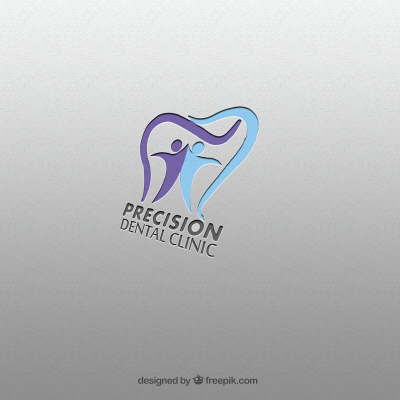 Logo Design by Palwasha Khan - Entry No. 77 in the Logo Design Contest Captivating Logo Design for Precision Dental Clinic.