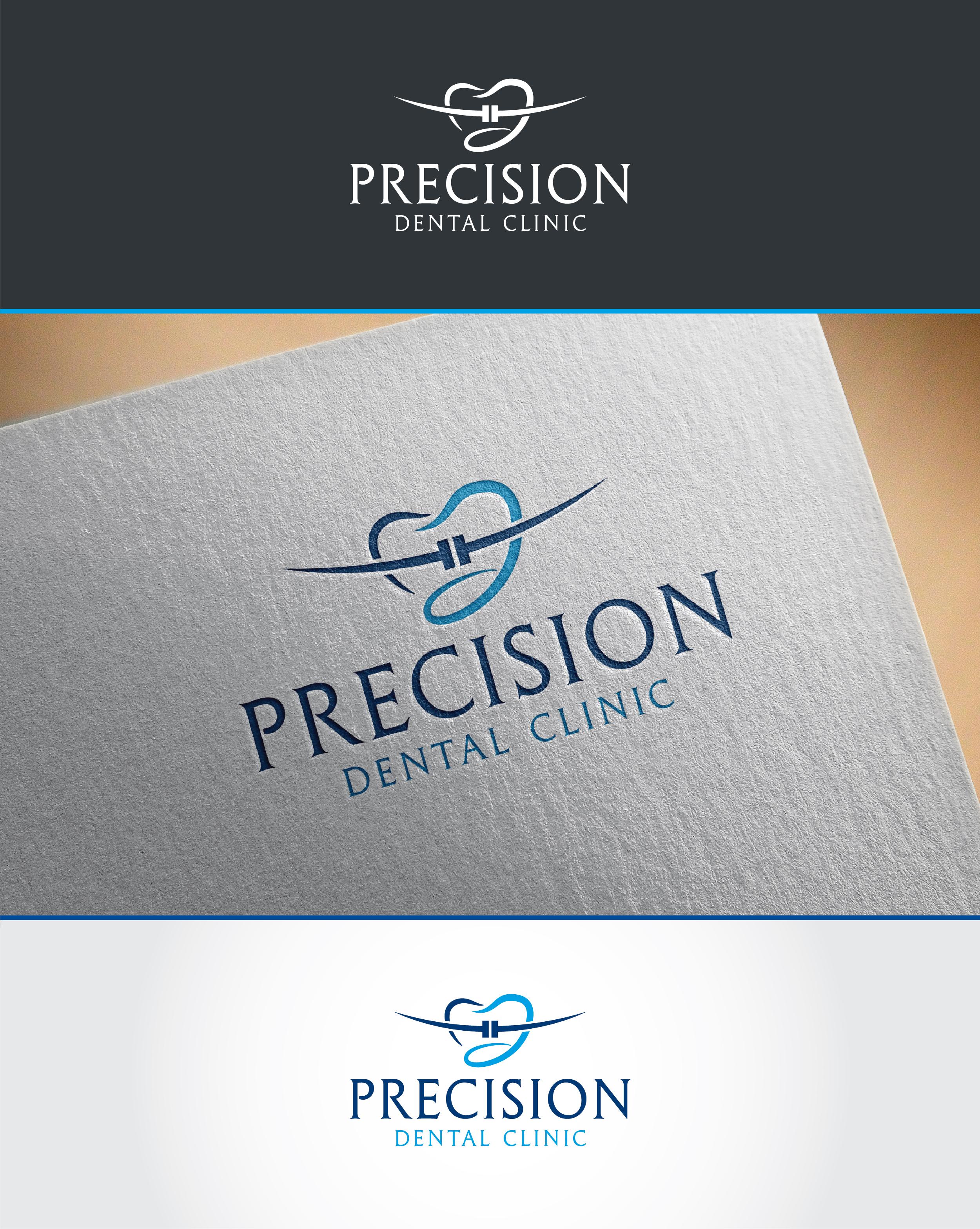 Logo Design by Shahab Uddin - Entry No. 79 in the Logo Design Contest Captivating Logo Design for Precision Dental Clinic.