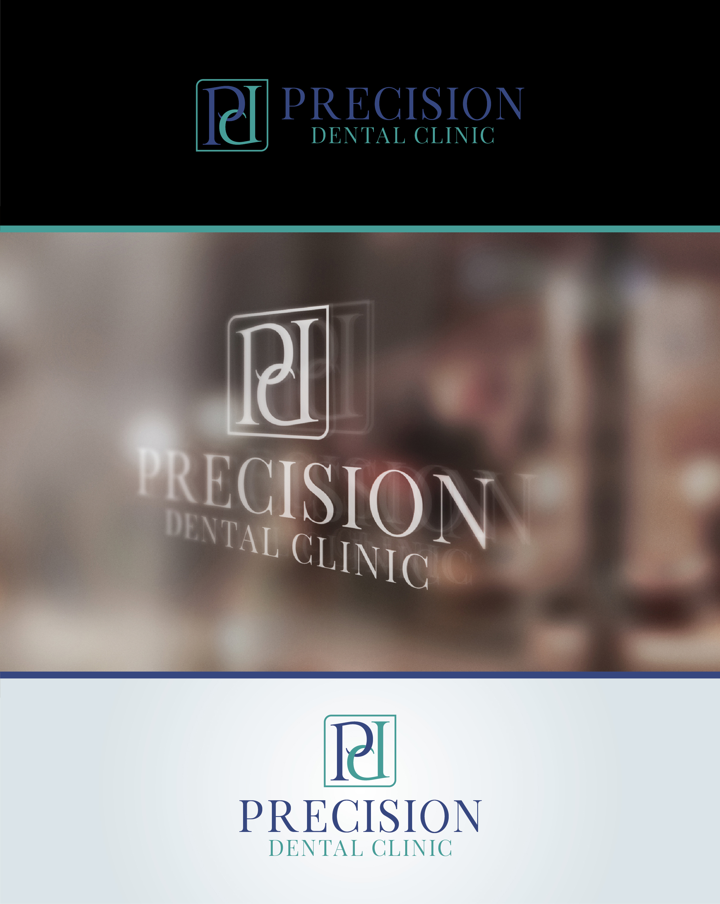 Logo Design by Shahab Uddin - Entry No. 80 in the Logo Design Contest Captivating Logo Design for Precision Dental Clinic.