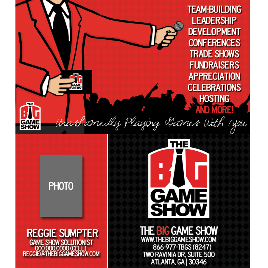 Business Card Design by bambino - Entry No. 27 in the Business Card Design Contest The Big Game Show business cards.