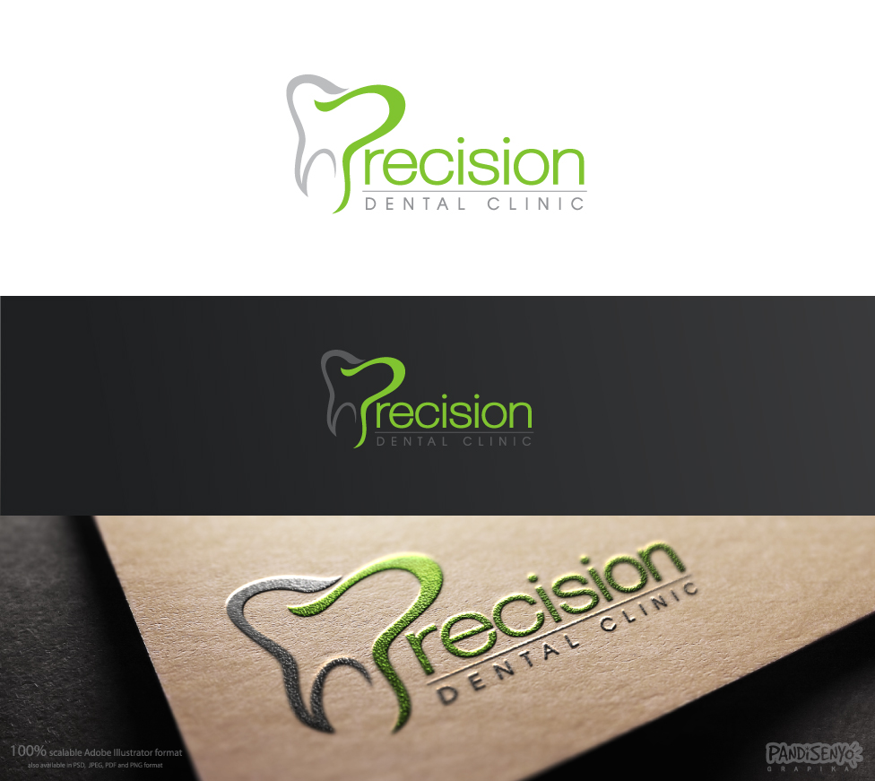 Logo Design by pandisenyo - Entry No. 82 in the Logo Design Contest Captivating Logo Design for Precision Dental Clinic.