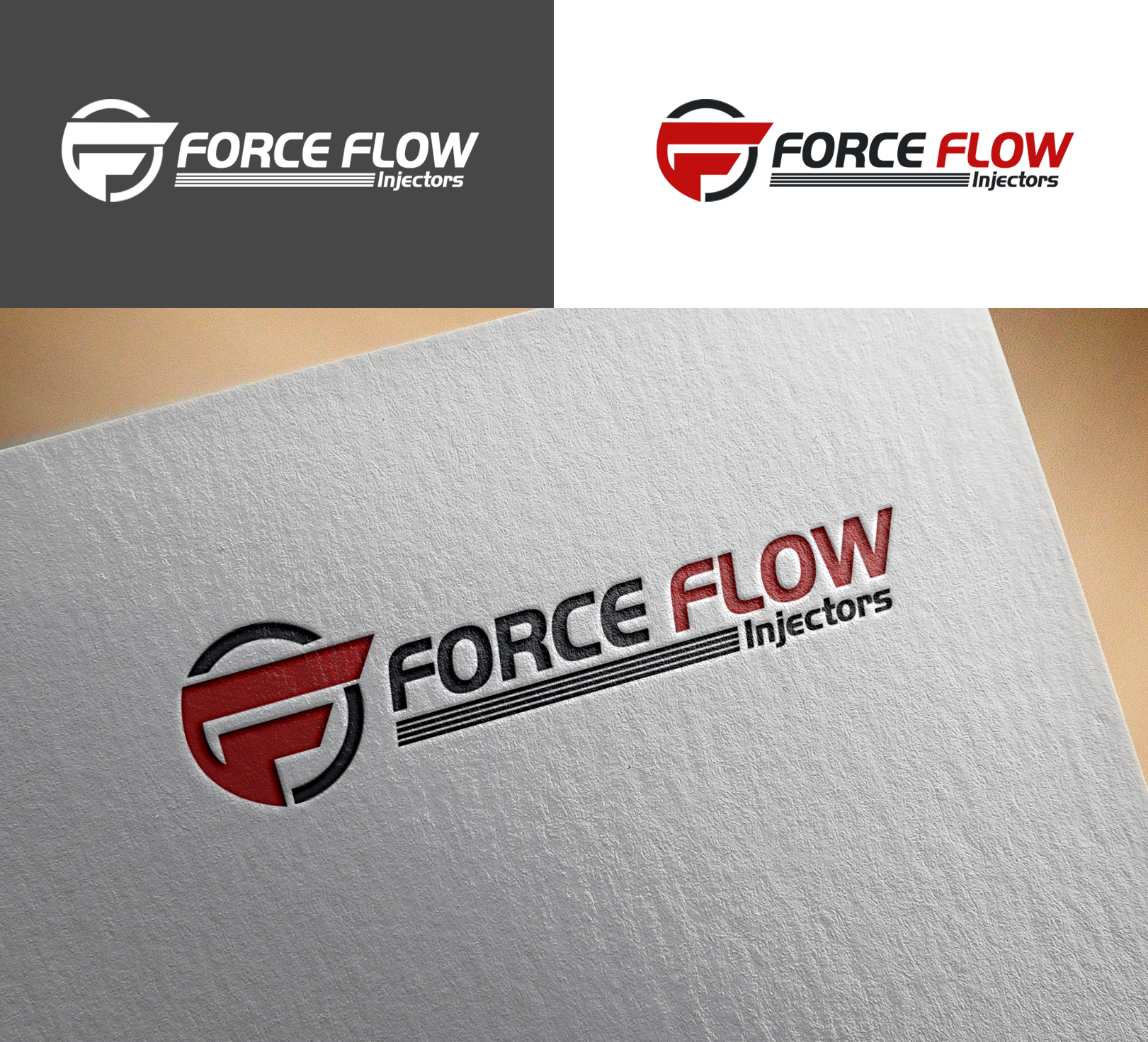 Logo Design by Sohaib Ali Khan - Entry No. 157 in the Logo Design Contest Fun Logo Design for Flow Force Injectors.