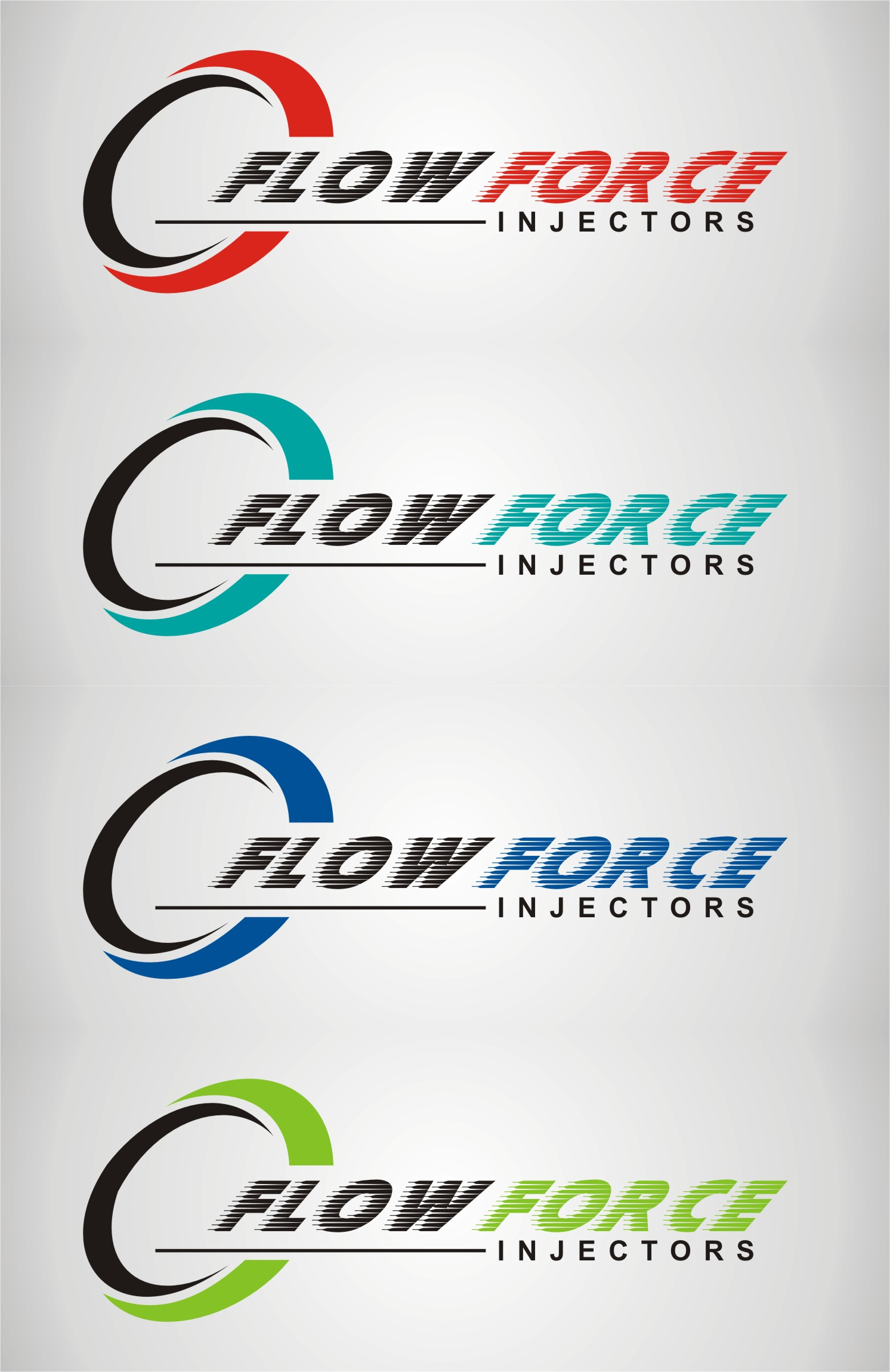 Logo Design by gryphon - Entry No. 162 in the Logo Design Contest Fun Logo Design for Flow Force Injectors.